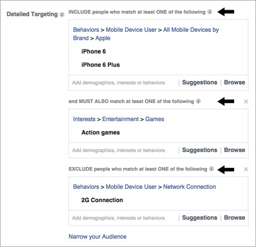 Facebook ads - detailed targeting