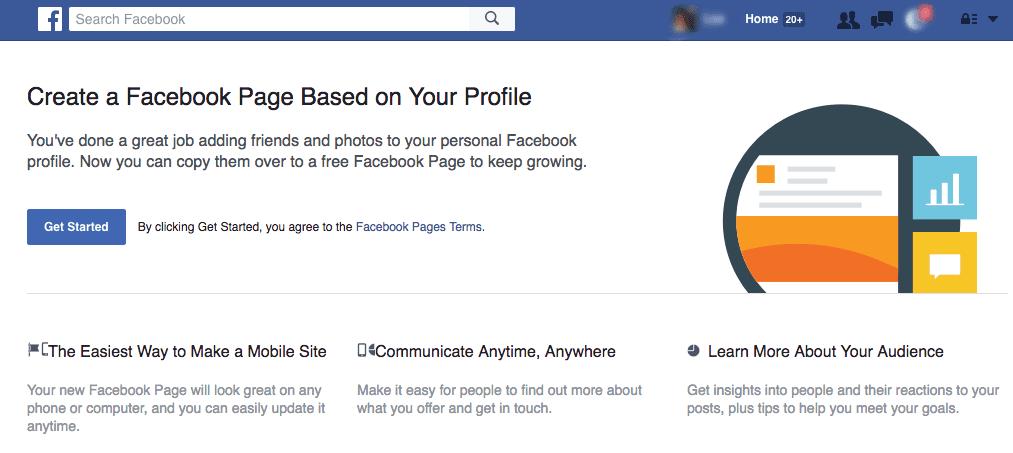 Facebook Profile Migrate