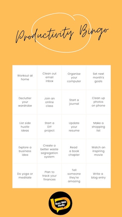 Instagram Bingo Game
