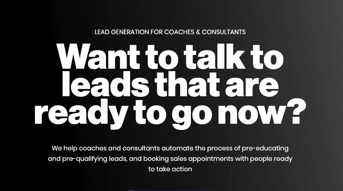 Lead Generation for Coaches & Consultants